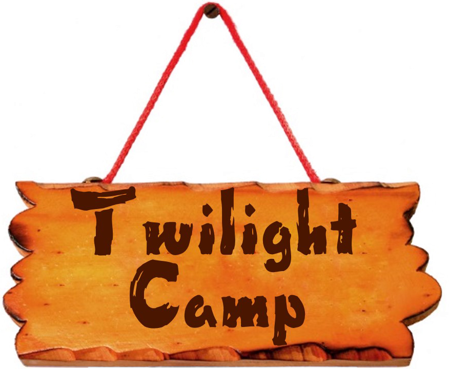 twilight camp sign